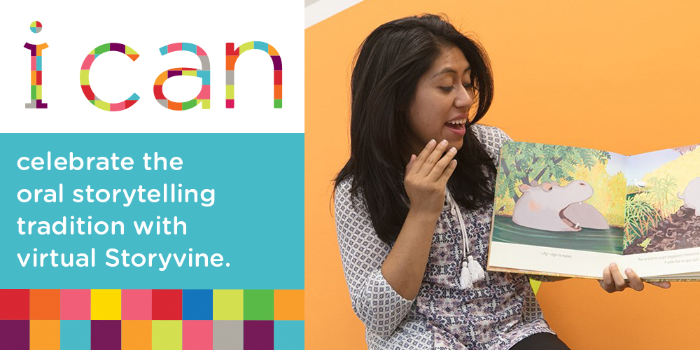 i can celebrate the oral storytelling tradition with virtual Storyvine.