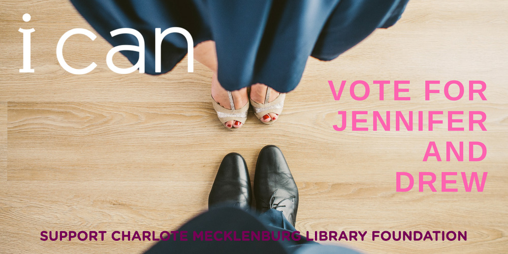 Charlotte Mecklenburg Library Foundation board member Jennifer Green  has chosen to dance for the Foundation because the library provides free and open access to information that can change lives and build a brighter future for all. The foundation exists to help the Charlotte Mecklenburg Library build a stronger community. Vote for Jennifer and support the Foundation.