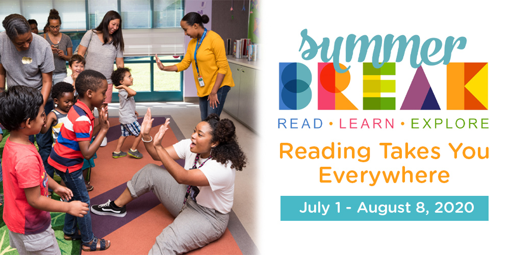 Don't forget to log your reading time for Summer Break: Reading Takes You Everywhere.