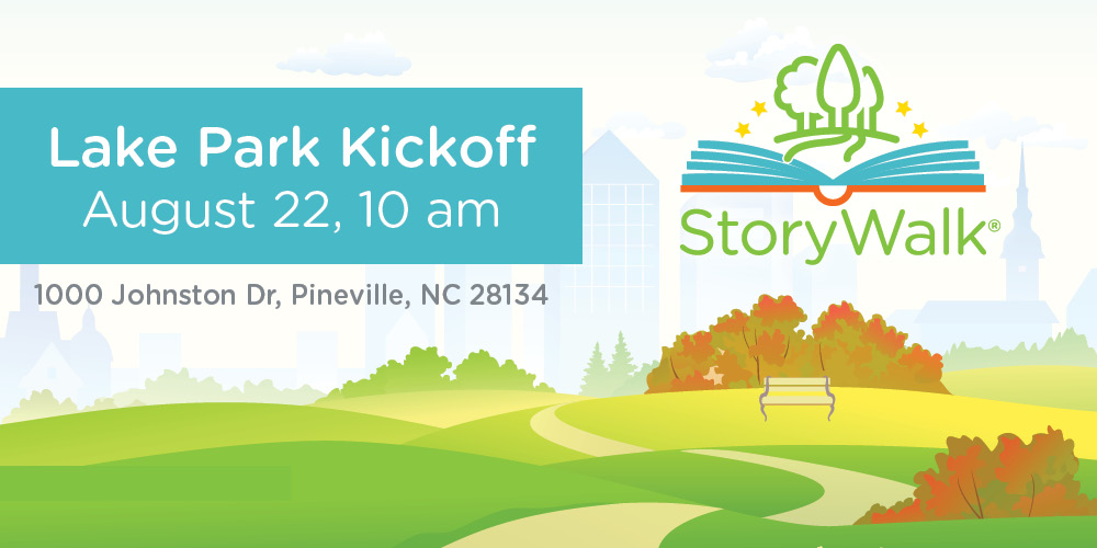 Join us Wednesday, August 22 at 10am for the new StoryWalks at Lake Park in Pineville.