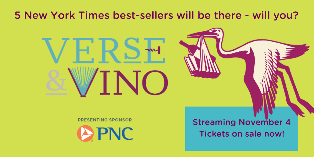 Get your Verse & Vino tickets now.