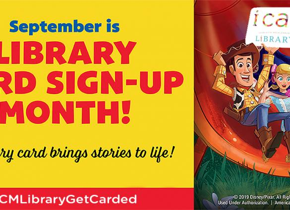 Celebrate Library Card Sign-Up Month with the Charlotte Mecklenburg Library and #CMLGetLibraryCarded!