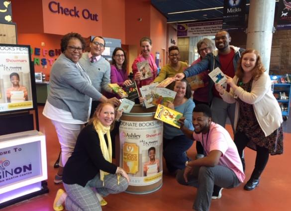 Donation of books at ImaginOn