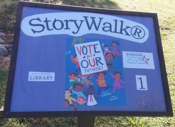 New Engage 2020 Storywalks with the Charlotte Mecklenburg Library.