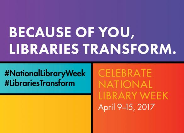Because of you, libraries transform.
