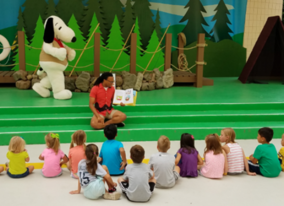 Snoopy Storytime at Carowinds Library Week in partnership with the Charlotte Mecklenburg Library