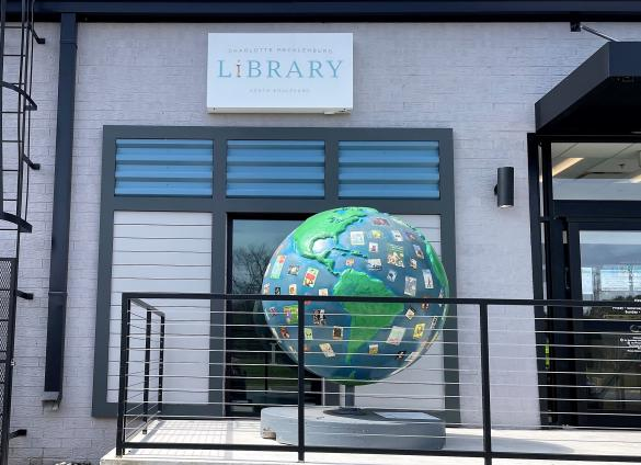 Cool Globe Art Finds Permanent Home at South Boulevard Library