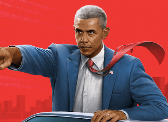 Barack Obama and Joe Biden take a turn as a crime-fighting duo in this fictionalized story.