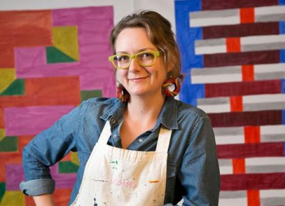 Artist Martha Clippinger will visit Charlotte Mecklenburg Library's North County Regional branch on Saturday, December 14, 2019 to discuss her public artwork on display.