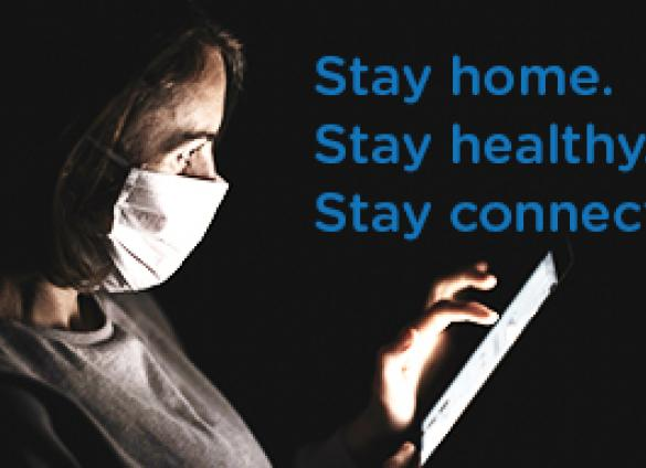 Charlotte Mecklenburg Library and the  Mecklenburg County Public Health Department encourage residents to stay home, stay healthy and stay connected.
