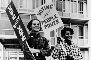 Women picketing for voting, courtesy of Getty Images.
