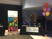 Library booth before the event