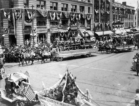 Meck Deck Parade in the 1920s. Held every year on the 20th of May, the celebration of the Mecklenburg Declaration preceded the importance of the Declaration of Independence.