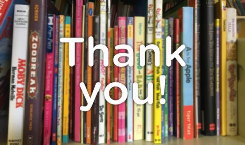 Image result for thank you from the library