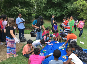 A Summer Break activity with the Charlotte Mecklenburg Library.